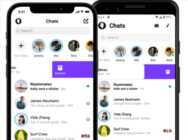 Archive made easy in Instagram Chats