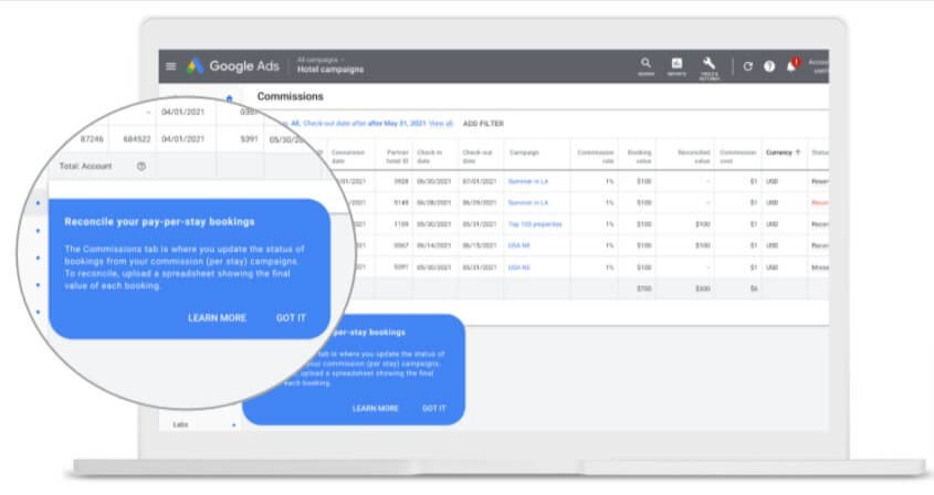 Bid Adjustments for Commisions Campaign in Google Ads