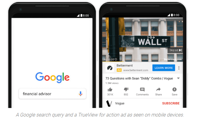 Launch of True-view for action