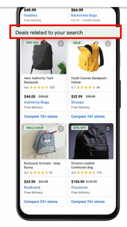 Deal listings related to Your Google Search