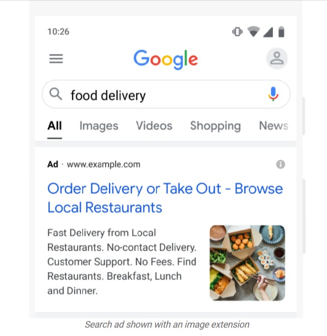 Google Search Ads Image Extension