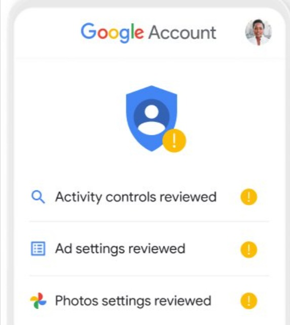 Security and Privacy checkups in Google search