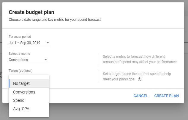 Create Budget Plan
