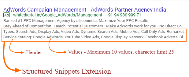 Structured Snippets Extensions